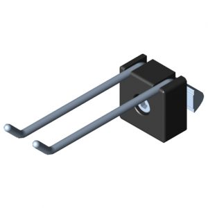 0.0.684.12 Double Hook 8 80x20, black
