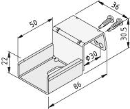 1.1.672.21 Roller Conveyor St Fastening Bracket D30-40