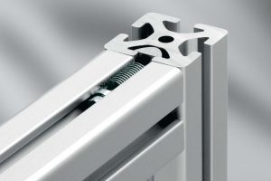Aluminium Extrusion Connection with no drilling