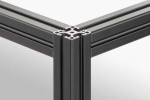 Black Anodised Aluminium Profiles item