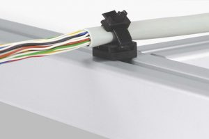 Cable Tie for connecting to aluminium profiles