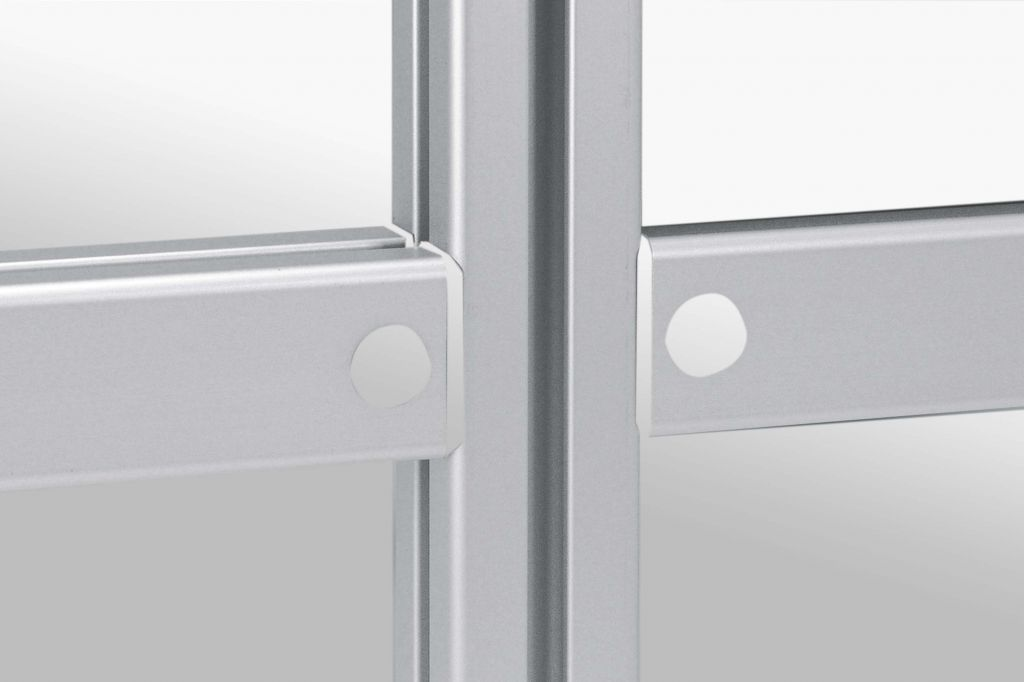 Aluminium groove profile connectors for panels