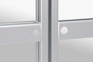Aluminium groove profile connectors for panels
