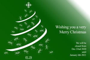 Christmas Greeting and Trading Hours 2020