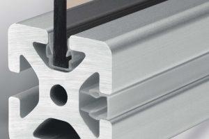 Hide the grooves of aluminium t-slot