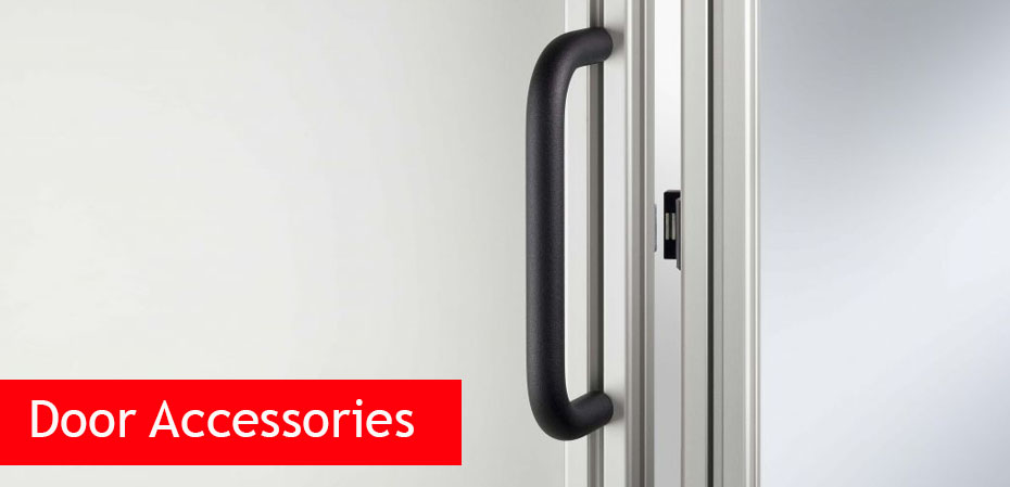 Handles and locks for aluminium profiles and panels