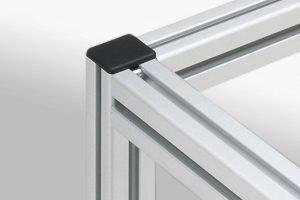 Cover for aluminium t-slot profiles