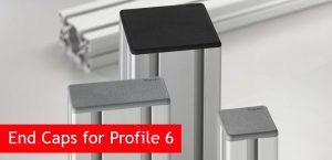 End Caps for Profile 6 Aluminium