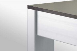 Low Height Aluminium Profile 8mm groove