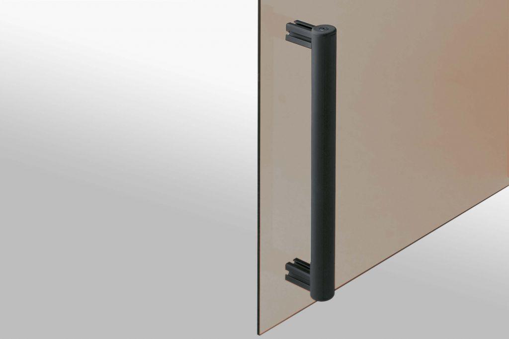 Cover to create handles on aluminium profiles