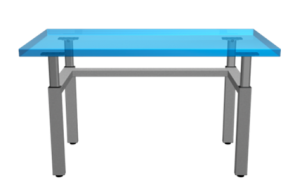 Four Legged Height Adjustable Table
