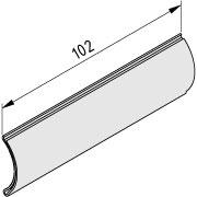 Label Holder for round aluminium tube