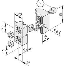 Round Aluminium Tube Attachments