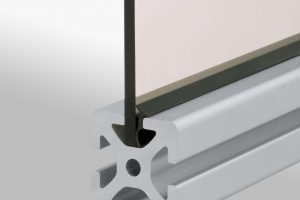 Connect panels to t-slot grooves