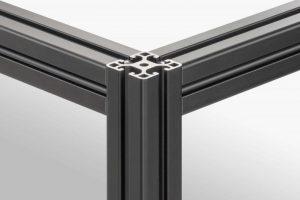 Black aluminium profile