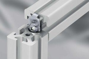 90 degree connectors for aluminium profile