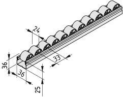 0.0.648.42 3000mm roller conveyor
