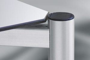 Rounded Cover Profiles for Aluminium Groove