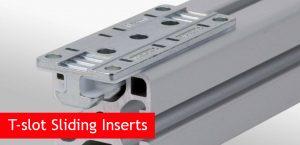 T-slot Sliding Inserts for grooved aluminium